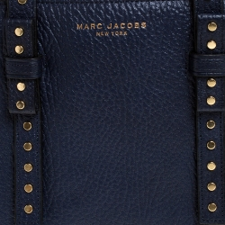 Marc Jacobs Midnight Blue Leather Mini T Studded Tote
