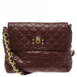 5b642d183cf2 Marc Jacobs Burgundy Quilted Leather The XL Shoulder Bag