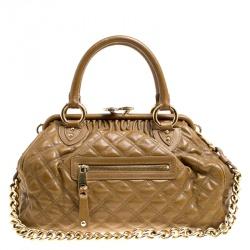 3d35bc292ba5 Marc Jacobs Khaki Quilted Leather Stam Shoulder Bag