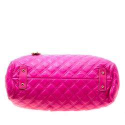 Marc Jacobs Pink Quilted Leather Stam Shoulder Bag