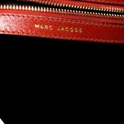 Marc Jacobs Orange Embellished Patent Leather Daisy Hobo