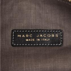 Marc Jacobs Black Leather Two Pocket Clutch