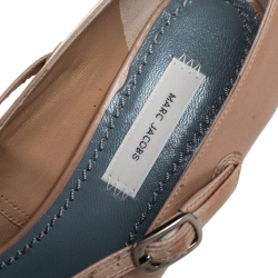 Marc Jacobs Beige Leather Mary Jane Pumps Size 39