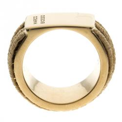 Marco Bicego Cairo Collection 18k Yellow Gold Seven Strand Woven Ring Size 56