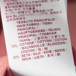 Marni Pink Cotton Silk High Waist Flared Skirt S
