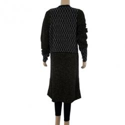 Marni Black Long Knit Cardigan M
