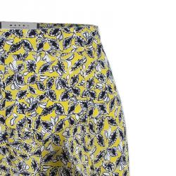 Marni Yellow Ruffle Print Skirt M