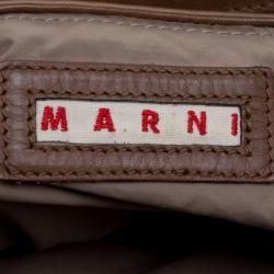 Marni Fatigue Green Leather Shoulder Bag