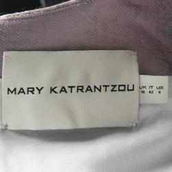 Mary Katrantzou Multicolor Metallic Jacquard Babelonia Dress M
