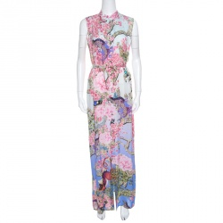 212ea0f12ba Buy Alice + Olivia Jungle Safari Print Embellished Silk Shona Maxi ...