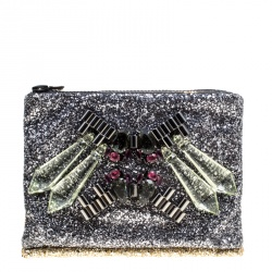 Mawi Silver/Gold Glitter with Acrylic Perspex Double Clutch
