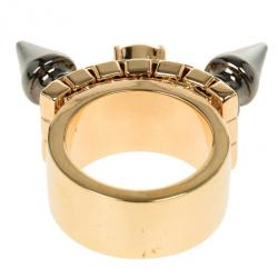 Mawi Double Spike Solitaire Ring Size 53