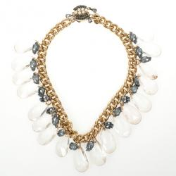 Mawi Faceted Teardrop Skull Necklace