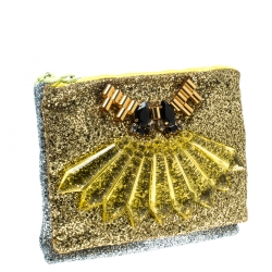 Mawi Gold/Silver Glitter with Acrylic Perspex Double Clutch