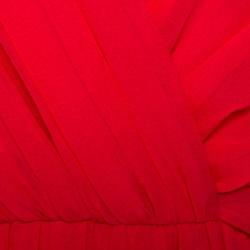 Max Mara Pink Georgette Silk Uguale Maxi Dress L
