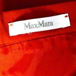 Max Mara Blood Orange Knit Pencil Skirt M