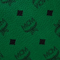 MCM Green/Black Visetos Leather Shopper Project Reversible Tote
