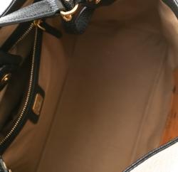 MCM Black/Cognac Visetos Coated Canvas and Leather Corina Tote