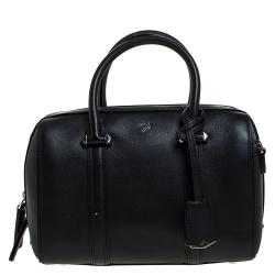 MCM Black Leather Ella Boston Bag
