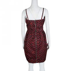 McQ By Alexander McQueen Black and Red Polka Dot Duchess Bustier Dress M