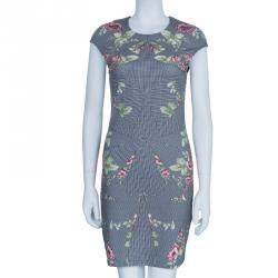 McQ By Alexander McQueen Kaleidoscope Antique Rose Print Dress M