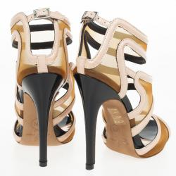 McQ by Alexander McQueen Blossom Mesh Bombe Sandals Size 36