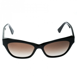 a0c3f1c1f7ee Alexander McQueen Black AMQ 4261 S Cat Eye Sunglasses