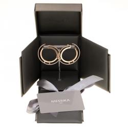 Messika Move Romane 18k Rose Gold Large Hoop Earrings
