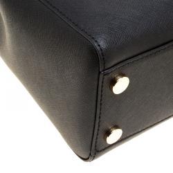 Michael Kors Black Leather Medium Cynthia Satchel
