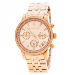 1e8be12453a0 Michael Kors Rose Gold Plated Stainless Steel Ritz MK6077 Women s  Wristwatch 37 mm