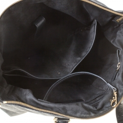 MICHAEL Michael Kors Black Signature Coated Canvas and Leather Tote