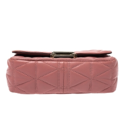 Michael Kors Pink Quilted Leather Small Sloan Shoulder Bag