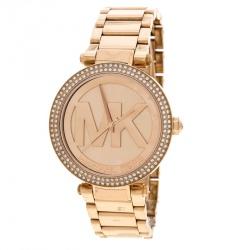 069504eab935f Michael Kors Parker Rose Gold Plated Parker MK5865 Women s Wristwatch 39 mm