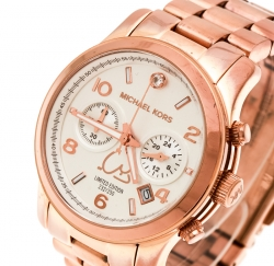 18b6f839d8da7 Michael Kors Silver White Dial Rose Gold Limited Edition Dubai MK5771  Women s Wristwatch 38 mm