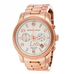 44246ea24 Michael Kors Silver White Dial Rose Gold Limited Edition Dubai MK5771  Women's Wristwatch 38 mm