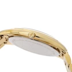 Michael Kors Yellow Gold Tone Stainless Steel Slim Runway MK3590 Women's Wristwatch 42 mm