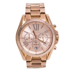 Michael Kors Rose Gold Tone Stainless Steel Bradshaw MK5503 Women's Wristwatch 43 mm