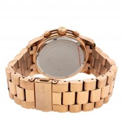 Michael Kors Rose Gold Tone Stainless Steel Runway MK5128 Women's Wristwatch 38MM