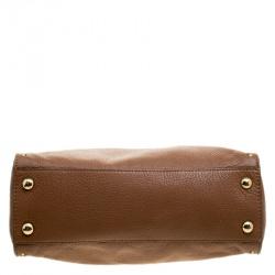 Michael Michael Kors Brown Leather East/West Hamilton Satchel