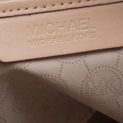 Michael Kors Brown Monogram Coated Canvas Jet Set Tote