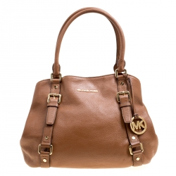 f62cb74a289238 Michael Michael Kors Brown Leather Bedford Satchel