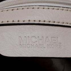 Michael Michael Kors Beige/Off White Signature Canvas Braided Hobo