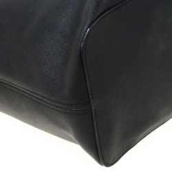 Michael Michael Kors Black Saffiano Leather Jet Set Travel Tote