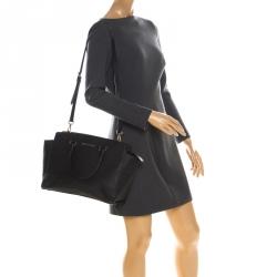 Michael Michael Kors Black Saffiano Leather Medium Selma Tote