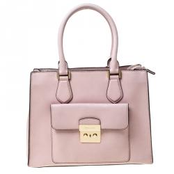Michael Kors Pink Leather Medium Bridgette Tote