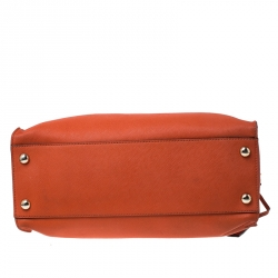 MICHAEL Michael Kors Orange Saffiano Leather Large Hamilton North South Tote