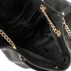MICHAEL Michael Kors Black Leather Large Jet Set Chain Tote