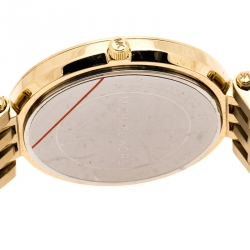 Michael Kors Yellow Gold Plated Stainless Steel Darci Glitz MK3191 Womens Wristwatch 39 mm