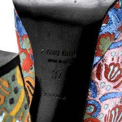 Miu Miu Printed Slingback Sandals Size 37