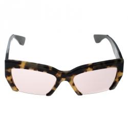 5b193255eb0 Miu Miu Tortoiseshell   Purple Gradient SMU 110 Rasoir Half Rim Sunglasses